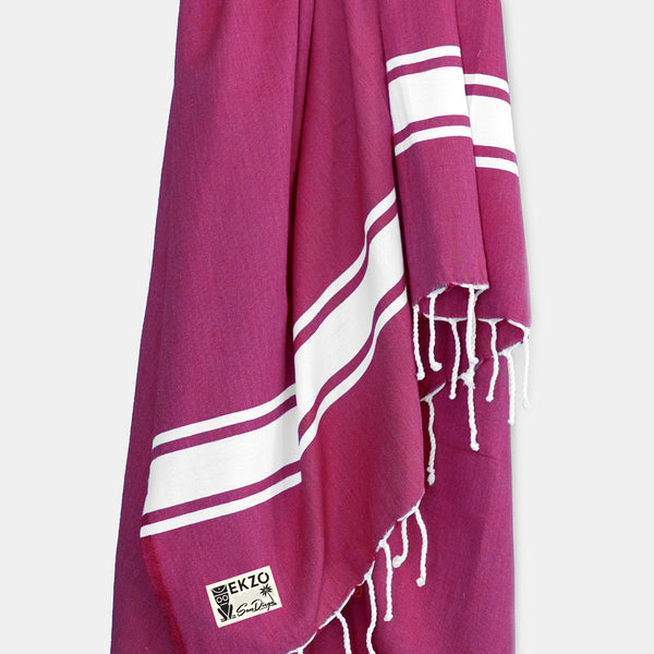 Burgundy - Beach Towel