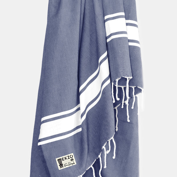 Washed Denim - Beach Towel - EKZO