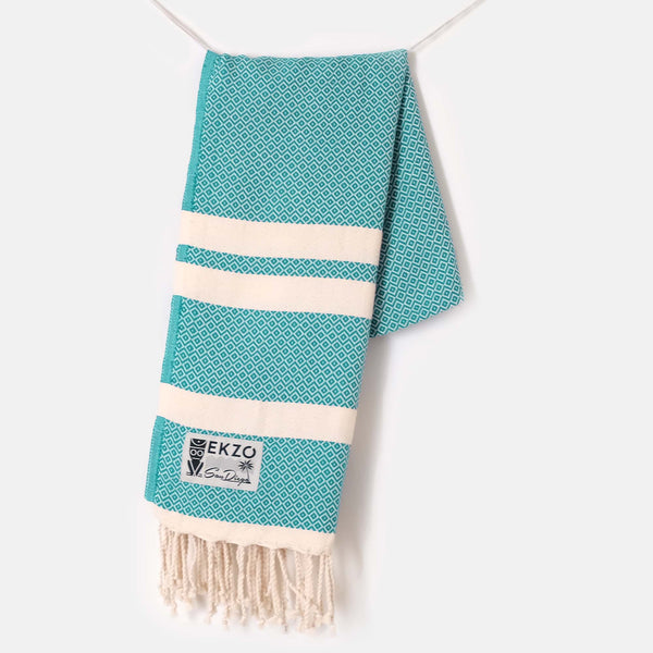 Diamond Turquoise - Beach Towel - EKZO