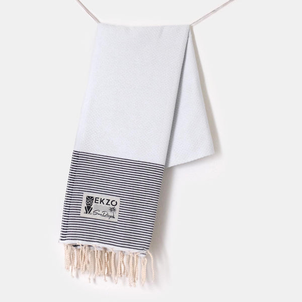 Honeycomb White  - Beach Towel - EKZO