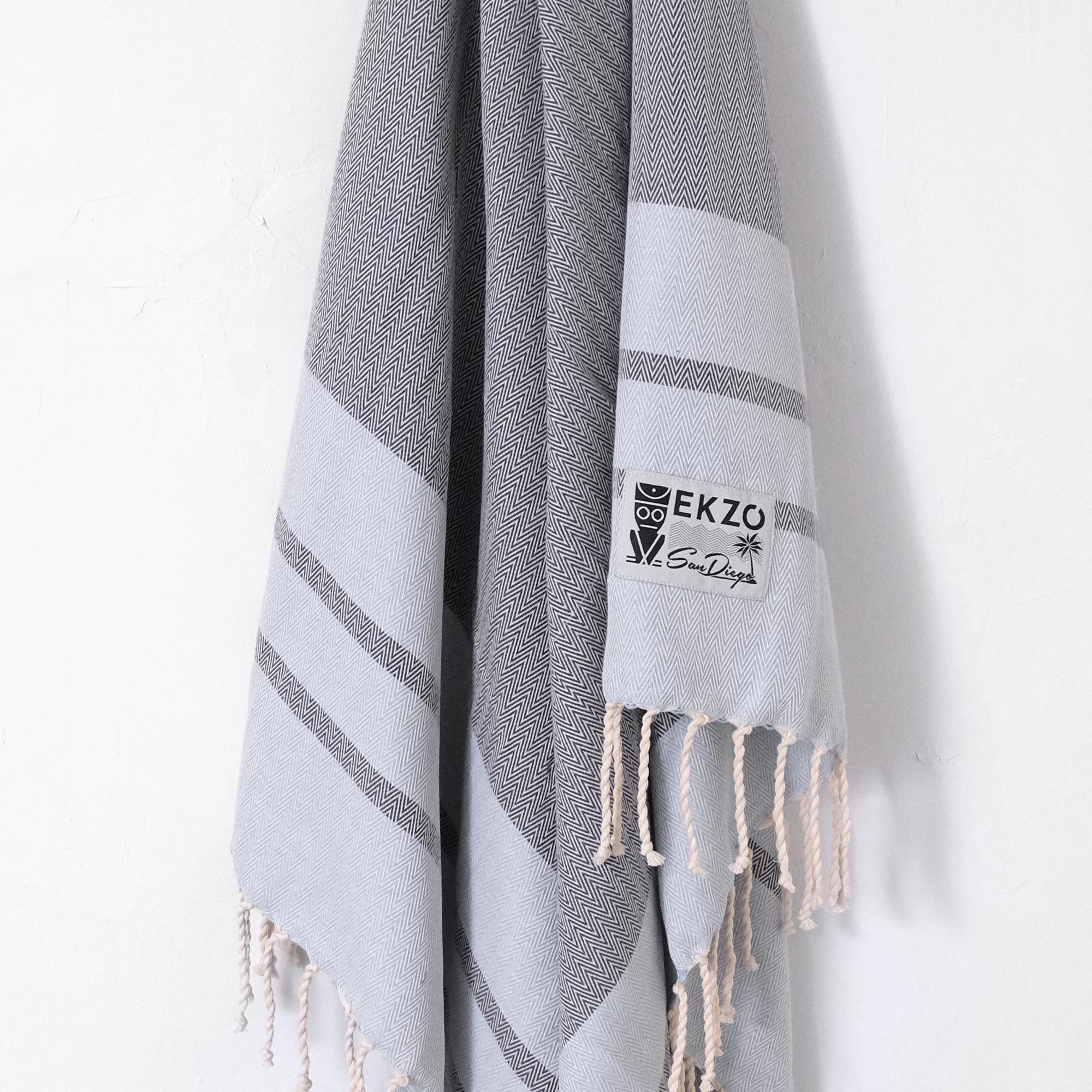 Hypnosis Gray - Beach Towel - EKZO