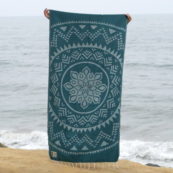 Mandala Rain Forest - Beach Towel - EKZO