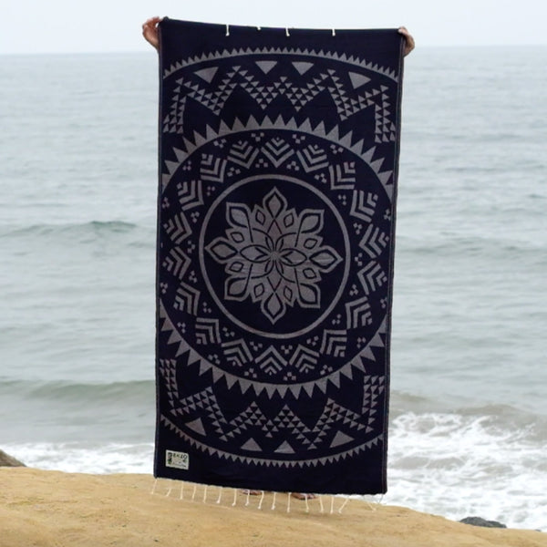 Mandala Night - Beach Towel Reversible - EKZO