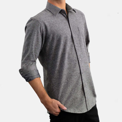 Flannel Shirt Heather Graphite - EKZO