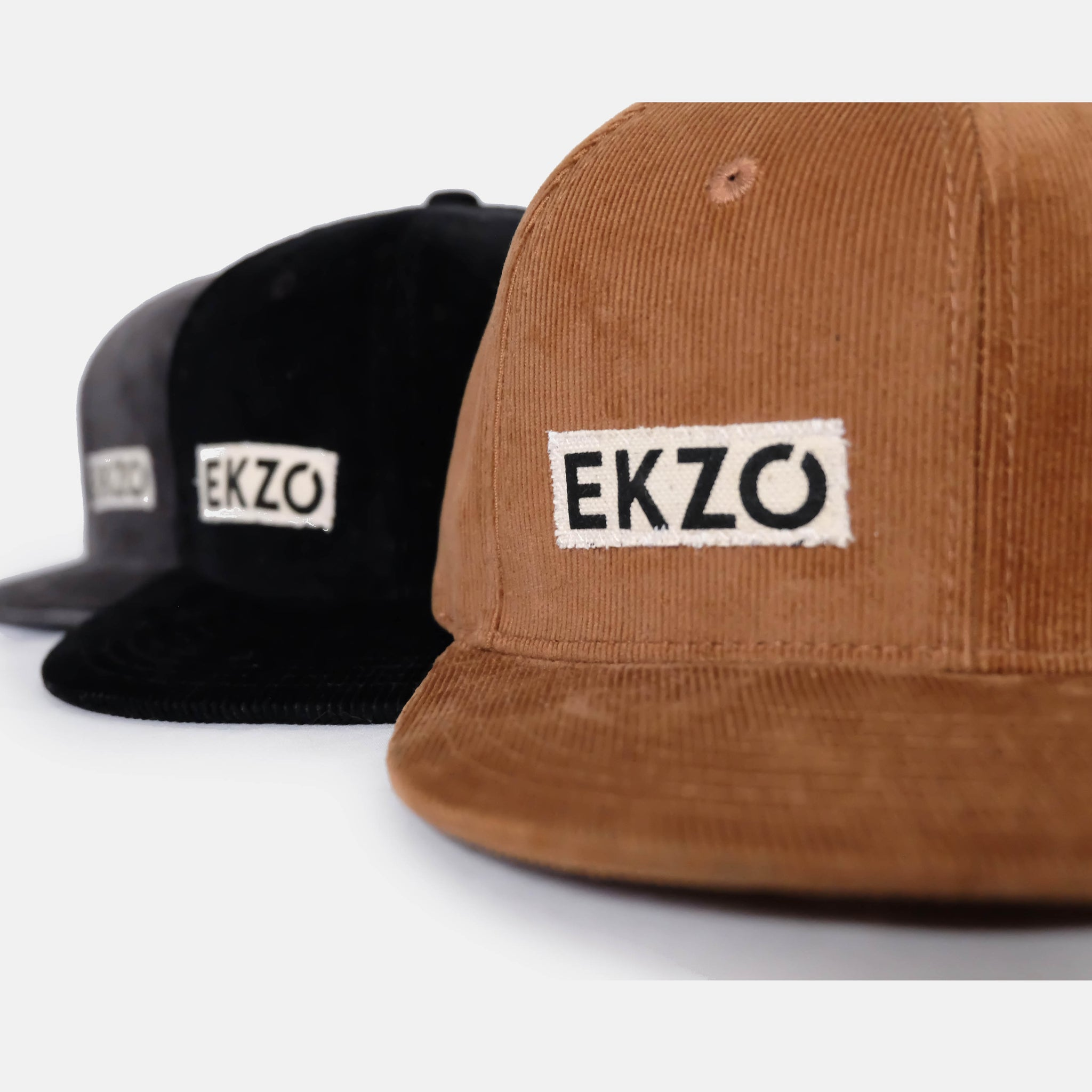 Full Corduroy Hat - Charcoal - EKZO