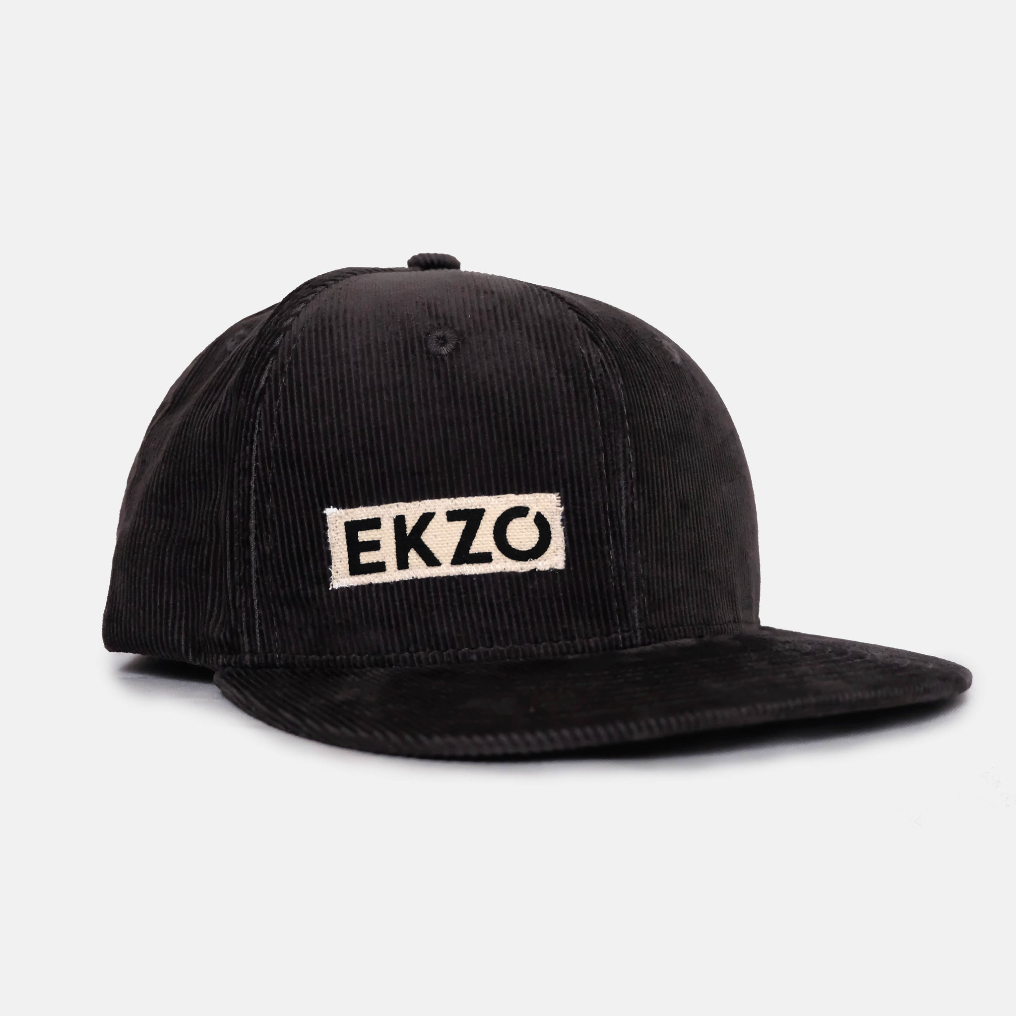 Full Corduroy Hat - Black - EKZO