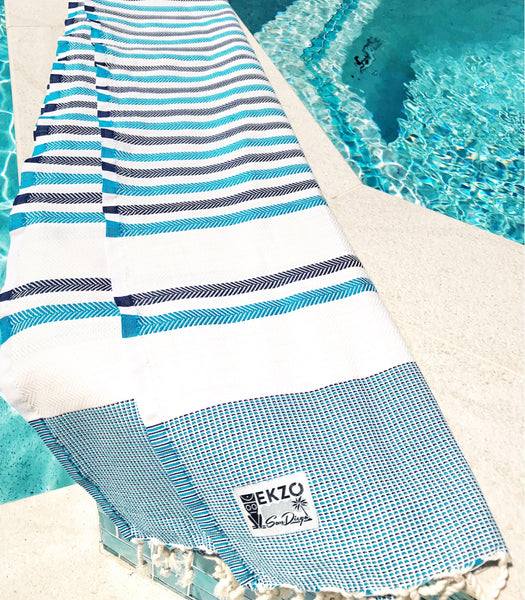 Shades of Blue - Beach Towel