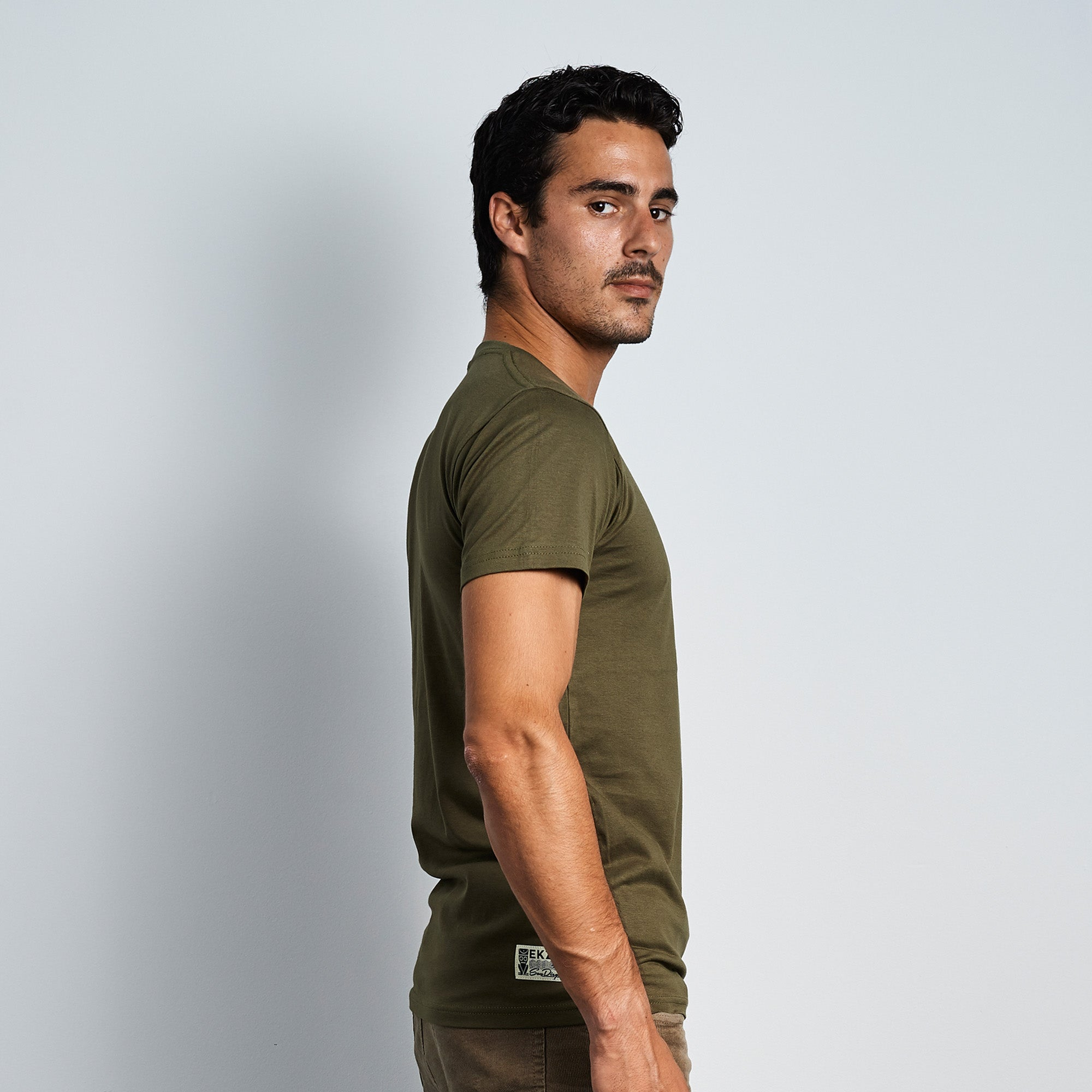 Diamond Patch Tee - Olive - EKZO