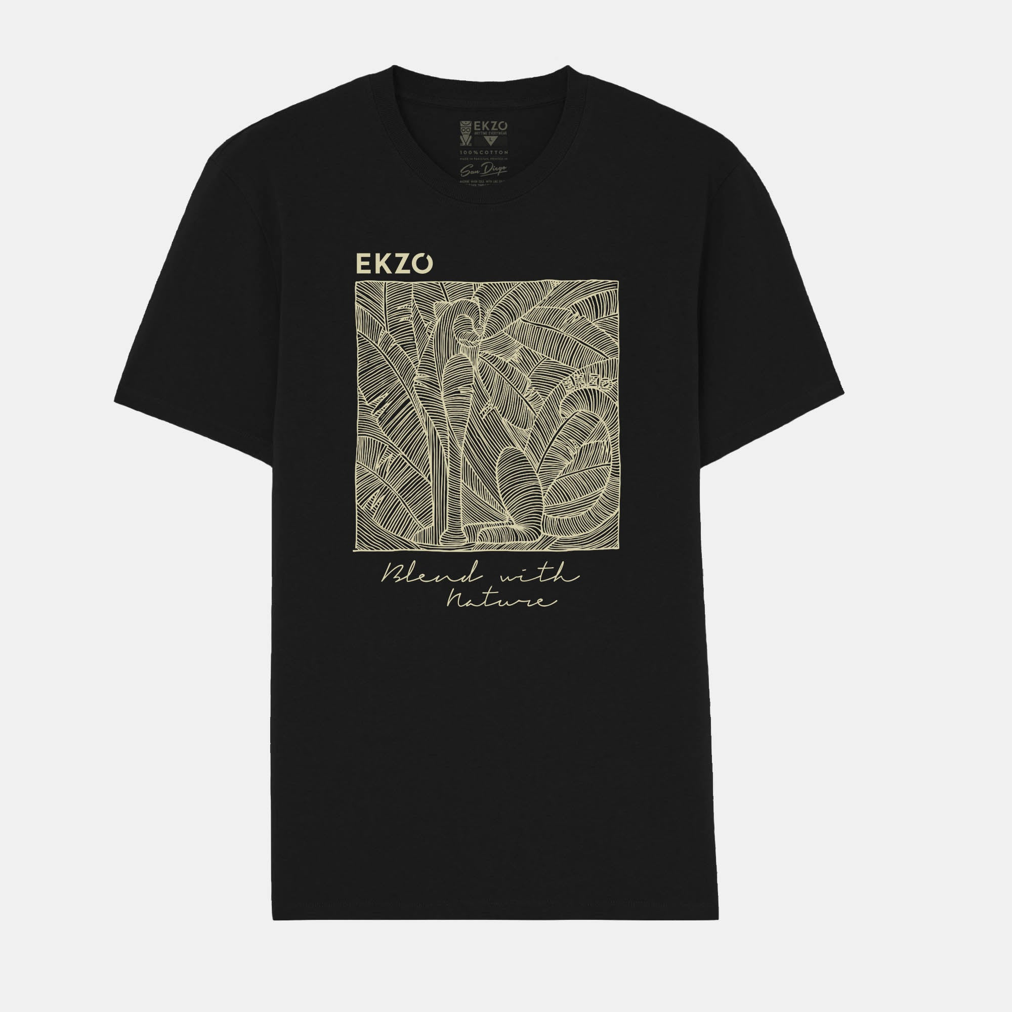 Blend with Nature T-shirt Black - EKZO