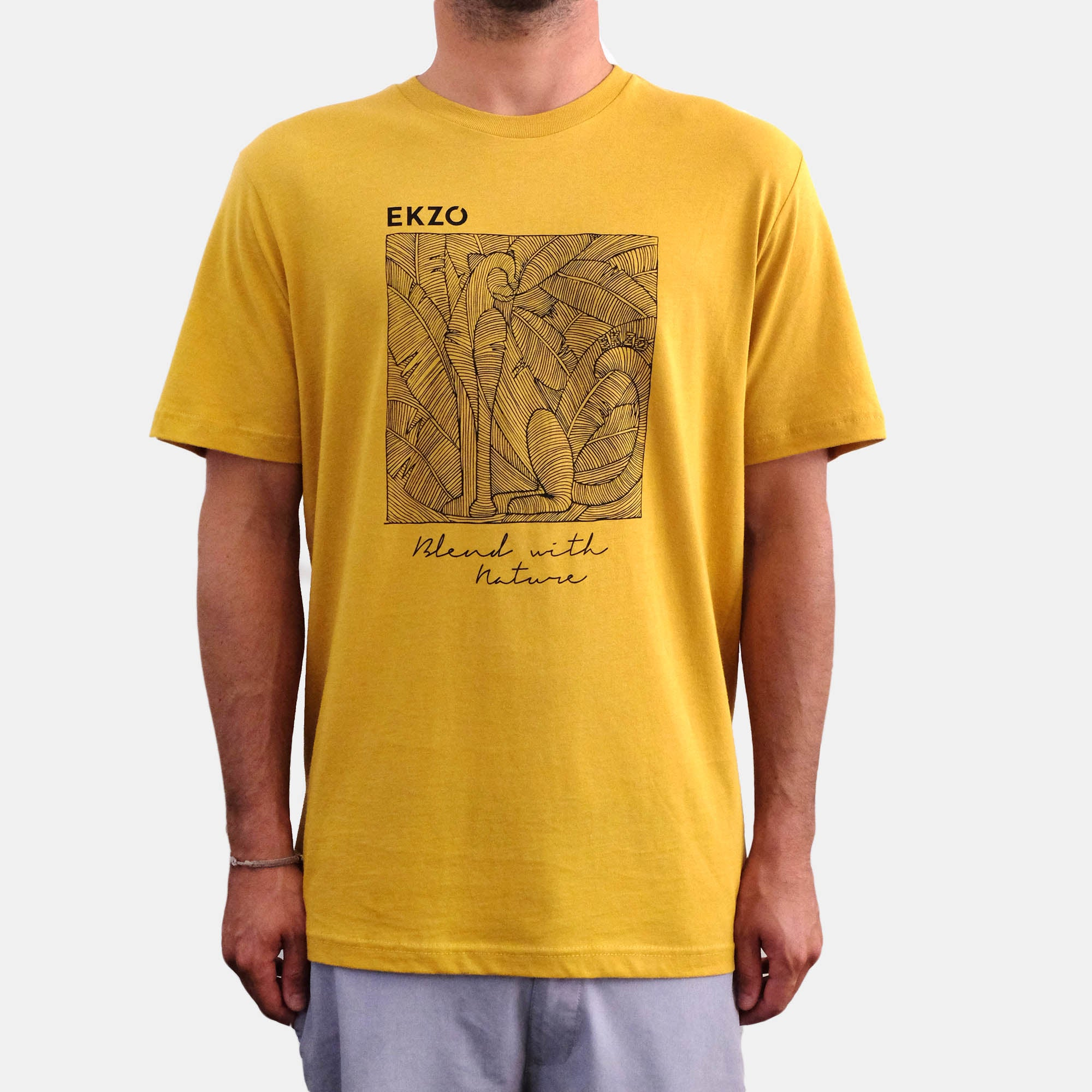 Blend with Nature T-shirt Mustard - EKZO