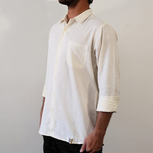 Off White Long Sleeve Shirt - EKZO