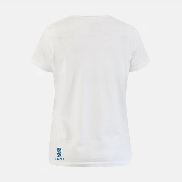 Explorer Tee - Scoop Neck White - EKZO