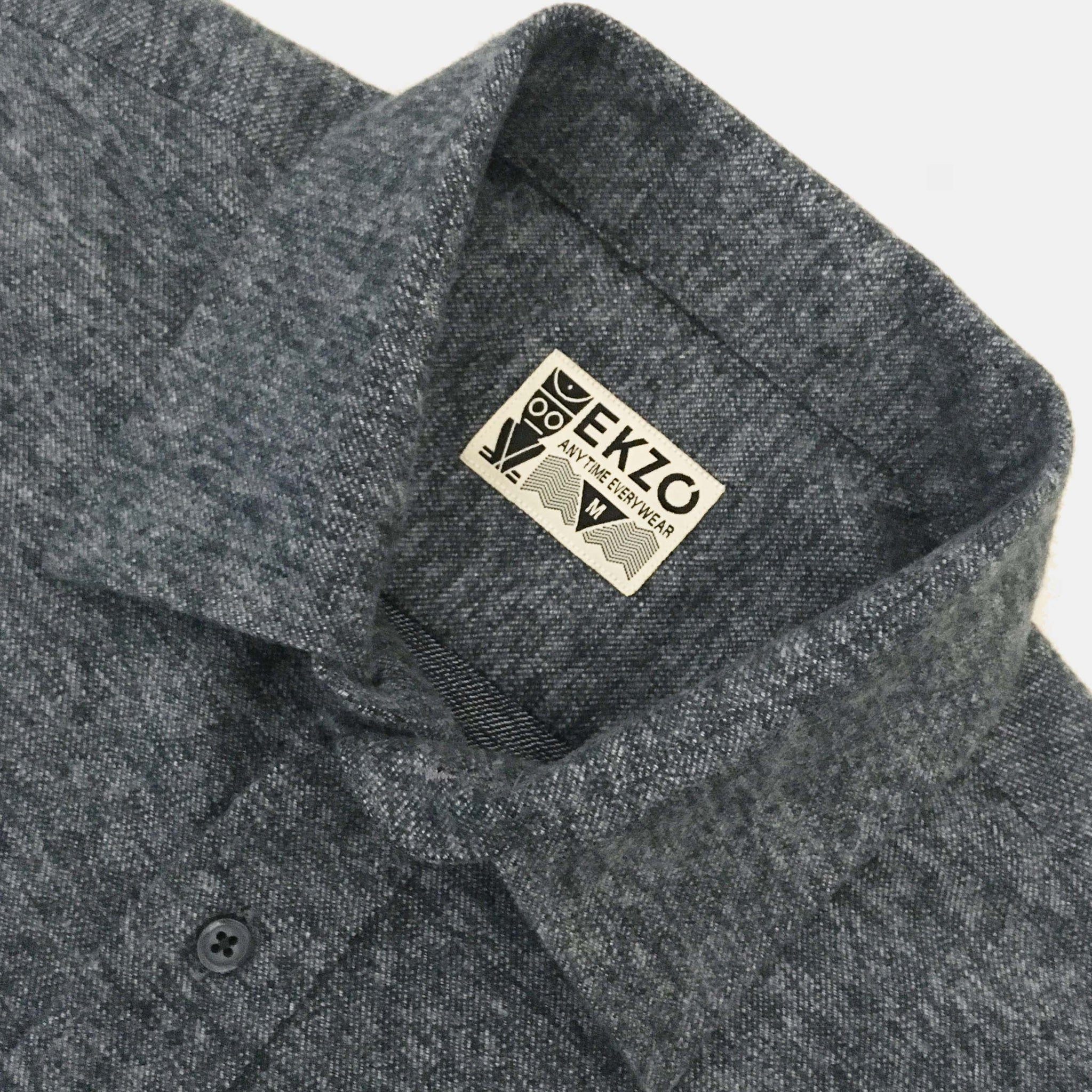 Flannel Shirt Heather Slate - EKZO