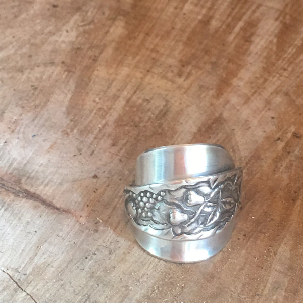 Sterling Silver Spoon Ring (CUSTOM: choose your pattern)