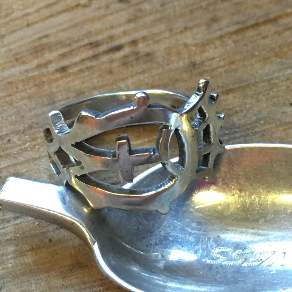 Crown Me a Lucky Duck! Inverness Spoon Ring