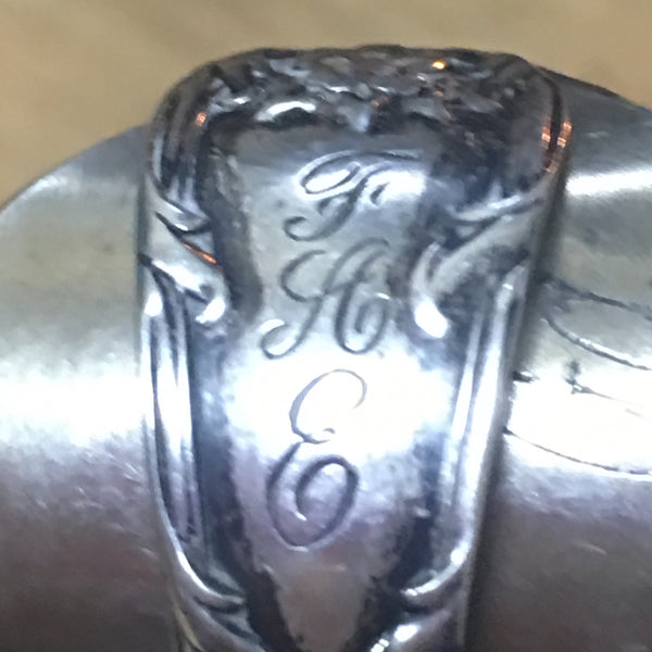 Sterling Demitasse Statement Spoon Ring