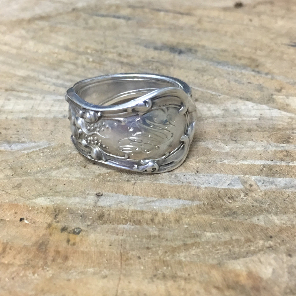 Sterling Spoon Ring Band