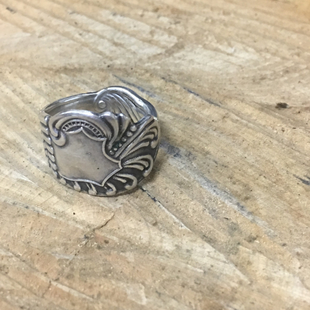 Art Nouveau Sterling Spoon Ring