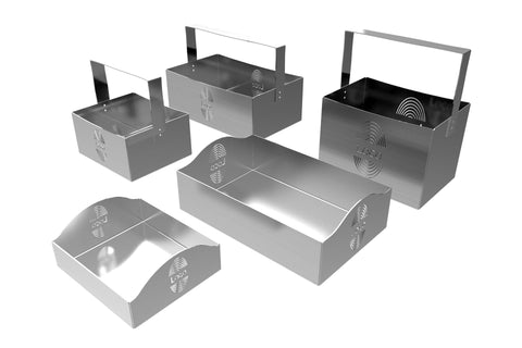 Personalized Stainless Steel Bar Caddies Trays Buffet Risers - Table top caddies for restaurants