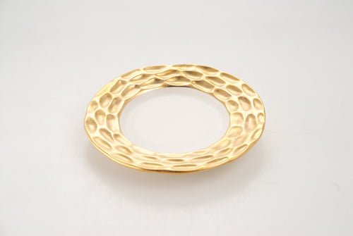 TRURO GOLD BREAD AND BUTTER PLATE BY MICHAEL WAINWRIGHT