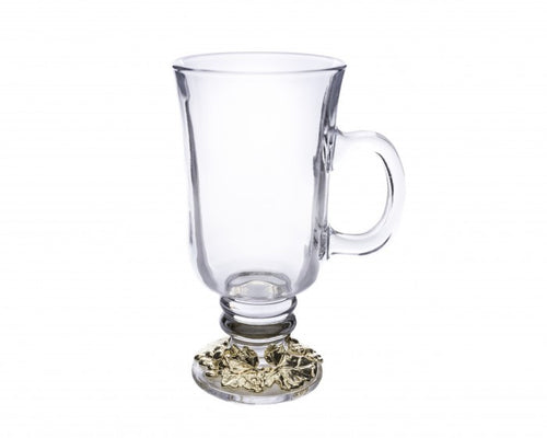 GRAPE 24K GOLD PLATED GLASS MUGS