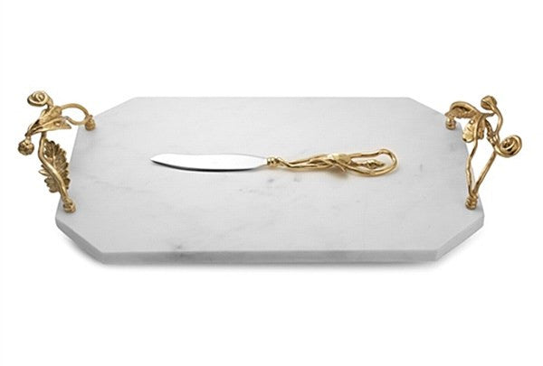Enchanted Garden Cheeseboard w/ Knife