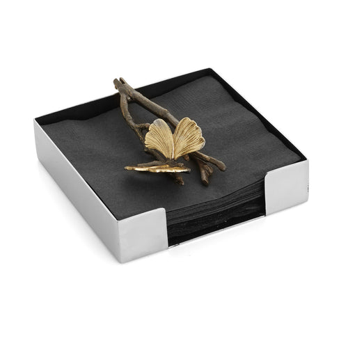Butterfly Ginkgo Cocktail Napkin Holder