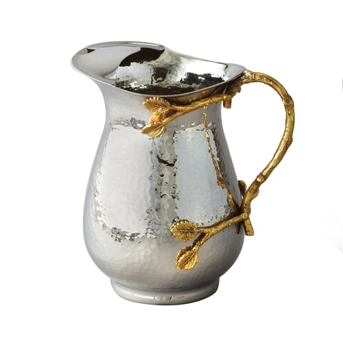 Gilt Leaf Water Pitcher