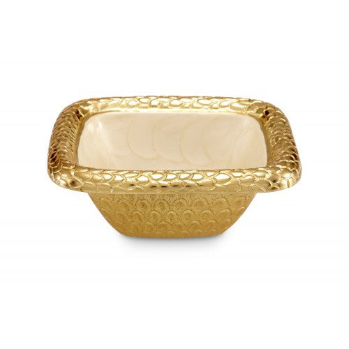 "FLORENTINE GOLD 6.25"" SQUARE BOWL"