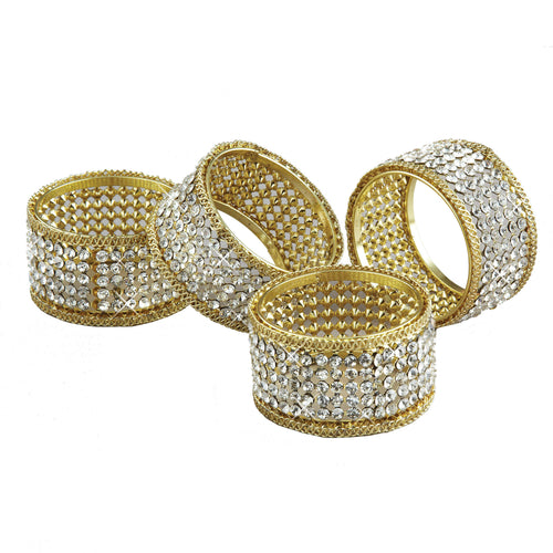 SET OF 4 BRILLIANT NAPKIN RINGS