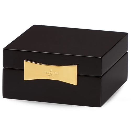KATE SPADE NEW YORK BLACK SQUARE JEWELRY BOX BY LENOX