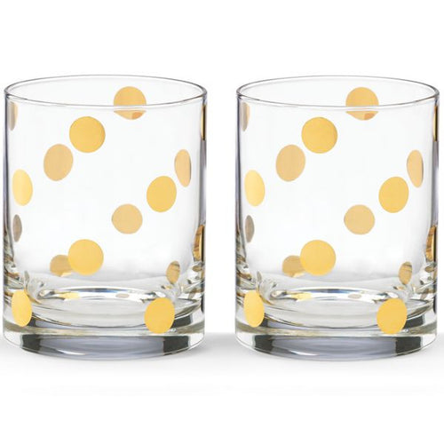 kate spade new york Pearl Place 2-piece DOF Glass Set by Lenox