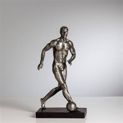 Athletic Resin Soccer Player Sculpture