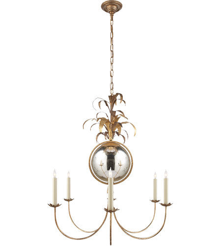 CHAPMAN GRAMERCY 6 LIGHT 33 INCH GILDED IRON CHANDELIER CEILING LIGH