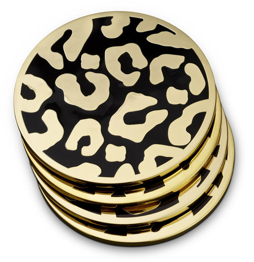 LEOPARD COASTERS (SET OF 4)