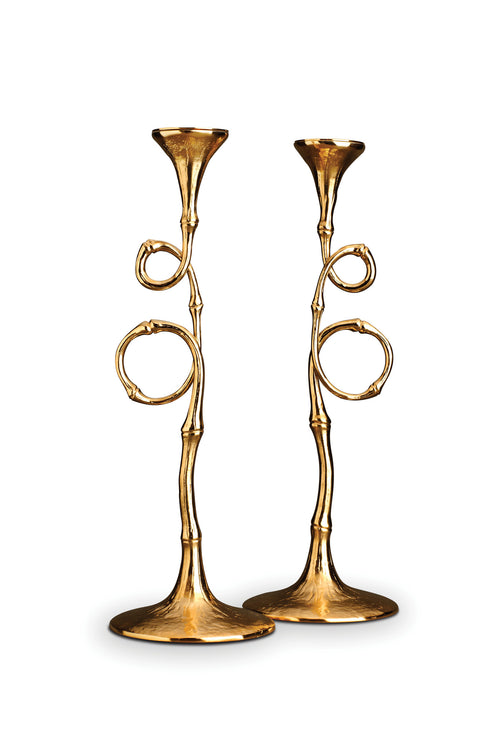 EVOCA CANDLESTICKS (SET OF 2)