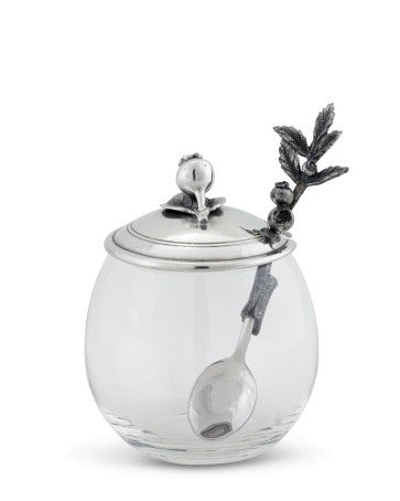 Blueberry Jam Jar with Spoon
