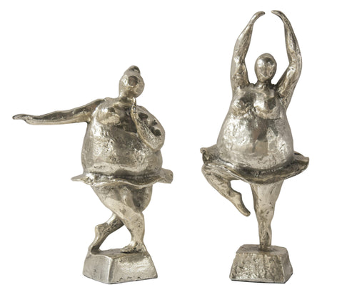 DESSAU HOME NICKEL ALUMINUM BALLERINAS SET OF 2