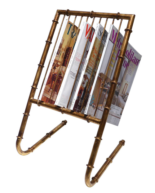 ANT. GOLD BAMBOO 10 MAG RACK