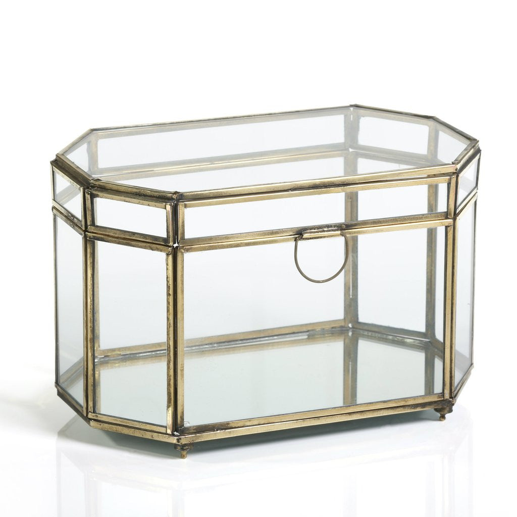 Good ... Octagonal Glass And Iron Box