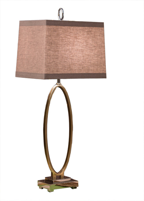 ANT. BRASS OVAL LAMP ( 3 WAY/150W )