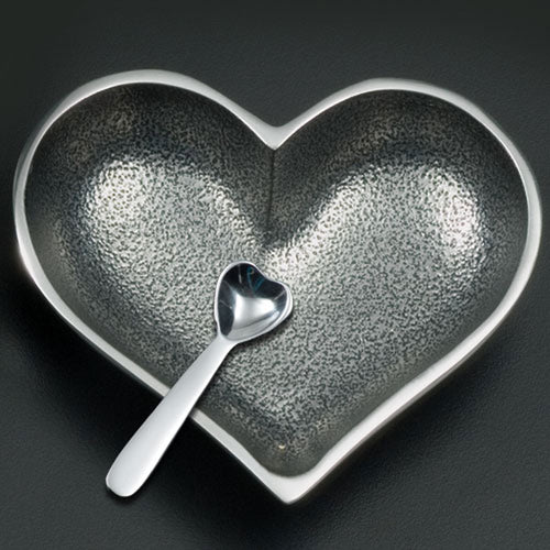 LIL SILVER HEART WITH HEART SPOON