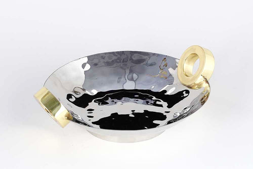 NICKEL/ GOLD RING CENTERPIECE