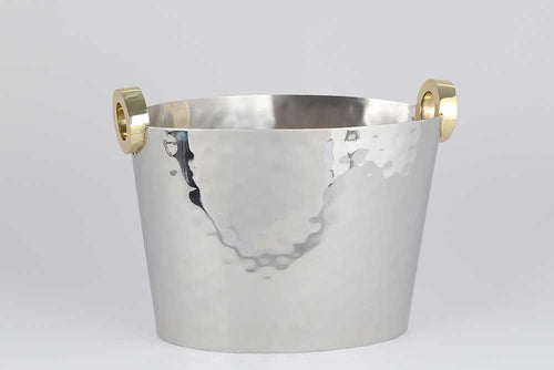 NICKEL/ GOLD RING WINE BUCKET