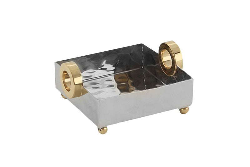 Gold ring nickel cocktail tray