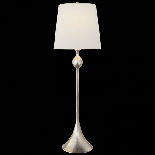 Dover Buffet Lamp in Burnished Silver Leaf with