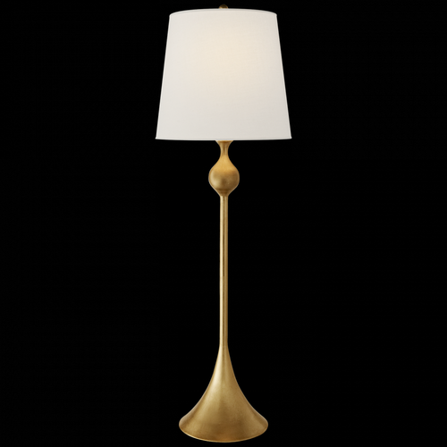 Dover Buffet Lamp in Gild with Linen Shade
