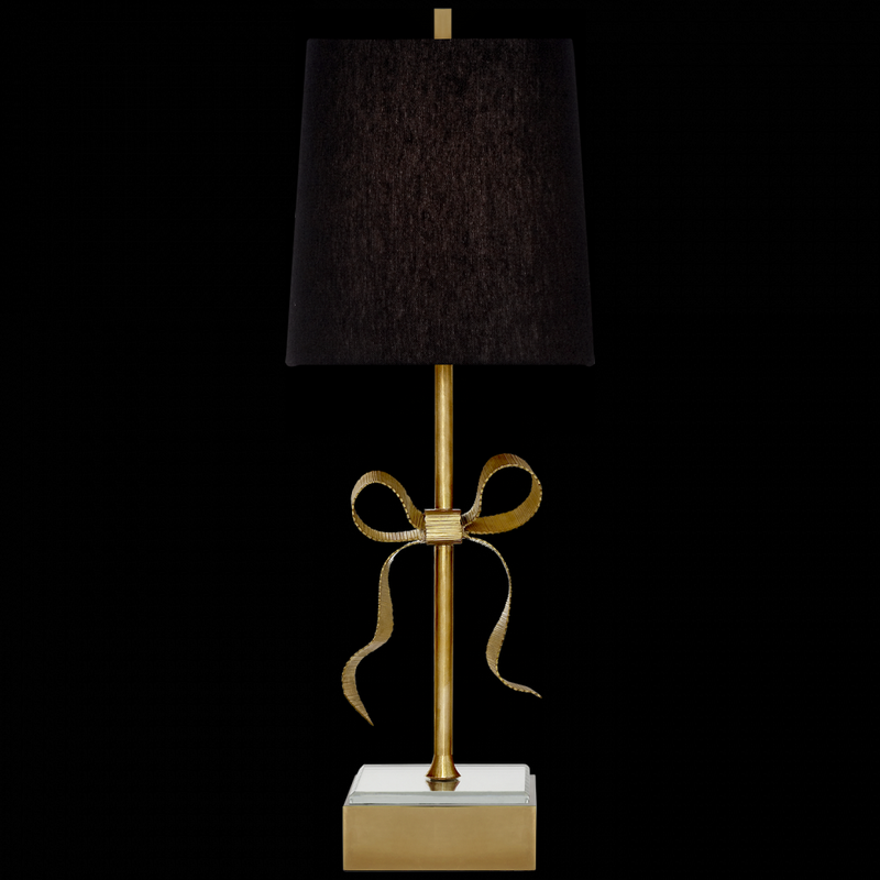ELLERY TABLE LAMP IN SOFT BRASS AND MIRROR
