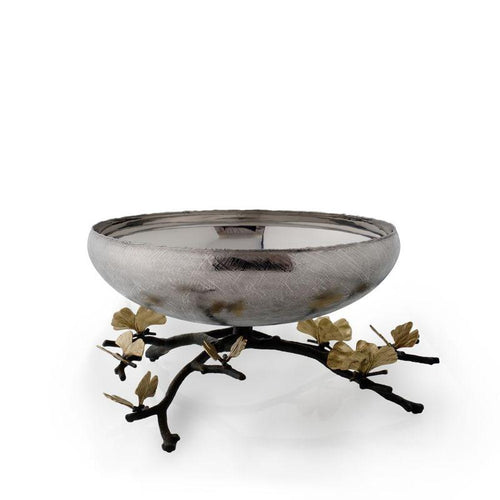 BUTTERFLY GINKGO FOOTED CENTERPIECE BOWL