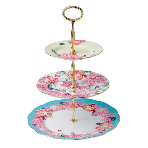 MIXED ACCENTS 3-TIER CAKE STAND